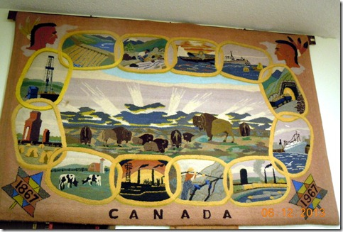 Centenial rug depicting the Canadian Provences