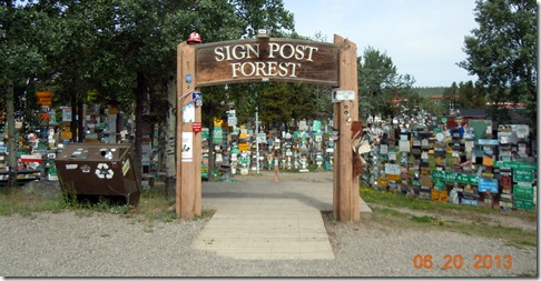 Watson Lake YT- Sign Post Forest