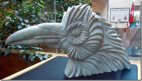 Eagle SculpturMural- Government Bldg. White Horse YT