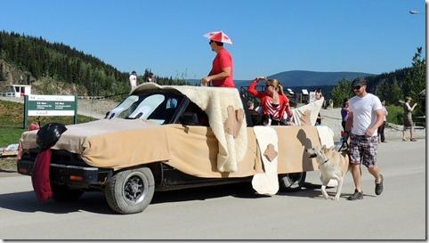 Dawson City YT Canada Day Parade