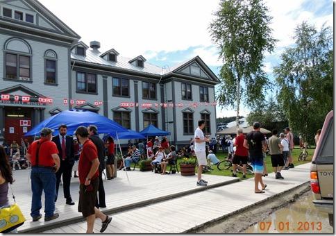 Dawson City YT Canada Day Parade picnic
