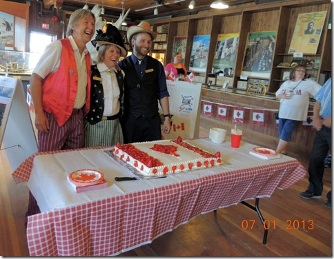 Canada Day cake at Visitor Center