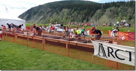 Dawson City YT Canada Day Gold Panning