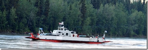 Ferry from Dawson City to Top of the World Hwy.