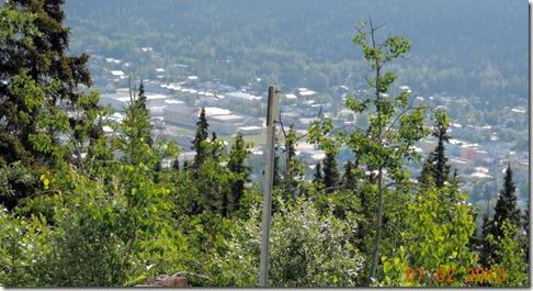 Looking back at Dawson City