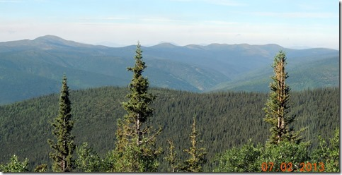 View from The Top of the World Hwy.