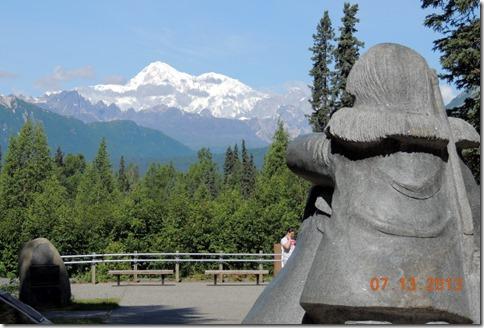Mt. McKinley from the Veterans Memorial
