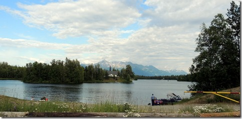 View from the motor home at Elks Lodge in Palmer / Wasilla