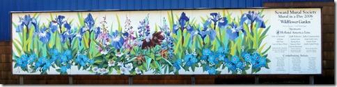 Seward AK Wildflower Garden Mural