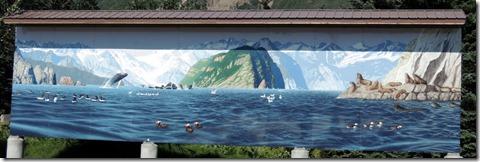 Seward AK Kenai Fords National Park Mural at Visitor Center
