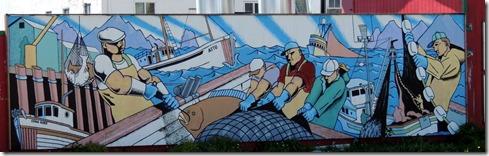 Seward AK Tribute to Commercial Fishing Mural 2003