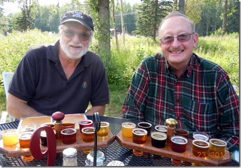 Wayne and Bob at St. Elias Brewery