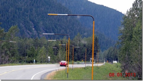 Portage to Anchorage, snow poles