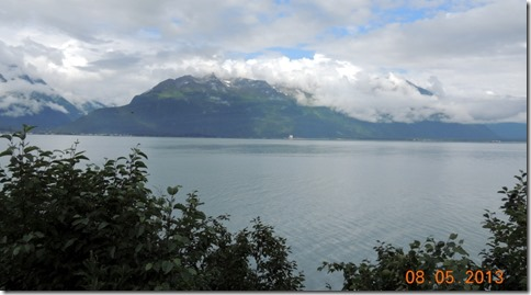 View from motor home in Valdez