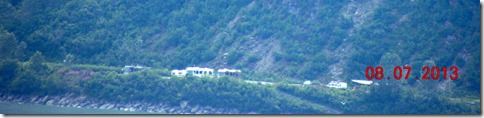 The motor home across the bay from Valdez at Allison Point