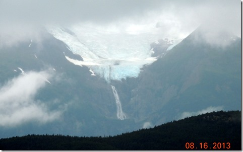 Rainbow Glacier with 400 ft. waterfall