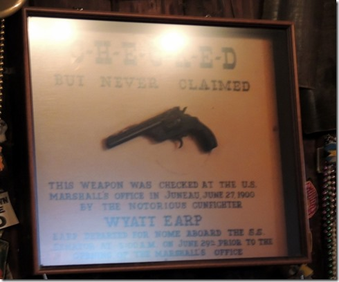 Wyatt Earp's gun from Nome left at the Red Dog by Earp