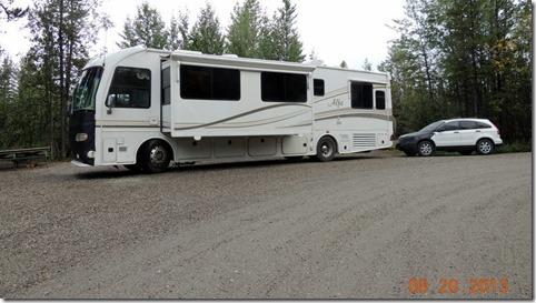 Campsite1 in Big Creek Campground YT
