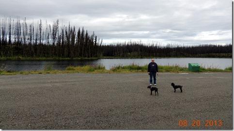 Blue Lake on Cassiar Hwy BC