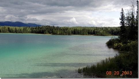 Boya Lake from campsite