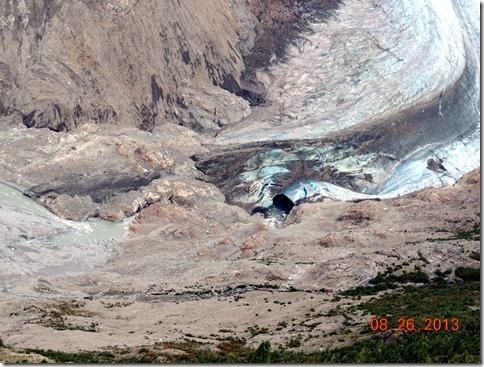 Salmon Glacier lake frozen