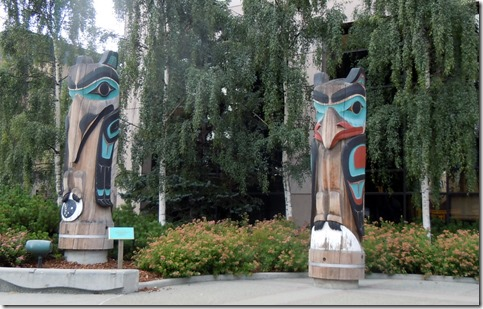 totems in Anchorage.
