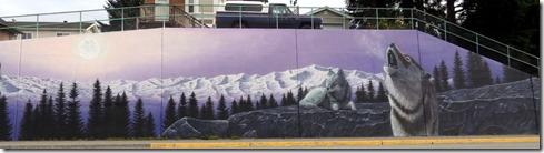 Howling wolf mural, Prince Rupert