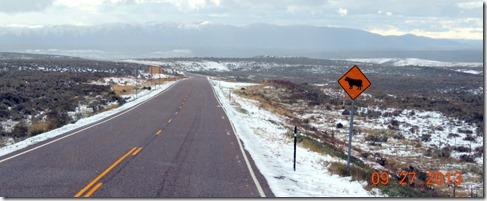 Snow, near I-80