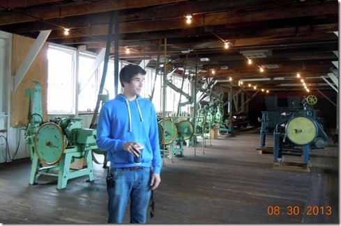 Adam, our tour guide at the cannery, Port Edward
