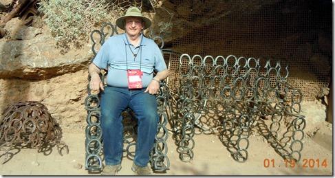 Horshoe rocking chair and seat @Desert Bar
