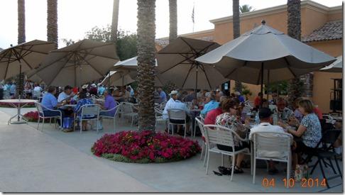 Alfateers Dinner on pool patio