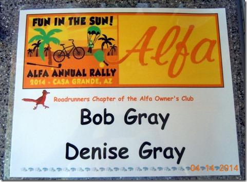 Rally card