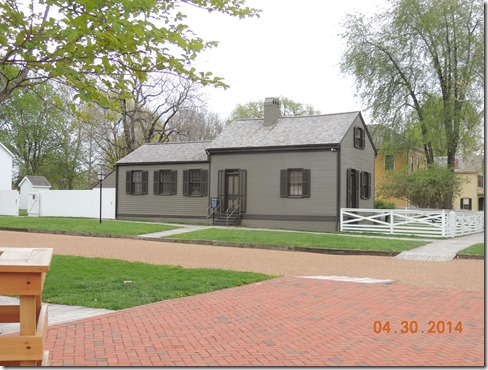 House like what Abe Lincoln moved into when married.