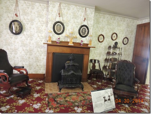 Lincoln house parlor with original furniture