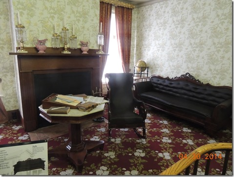 Second part of parlor Lincoln HOuse