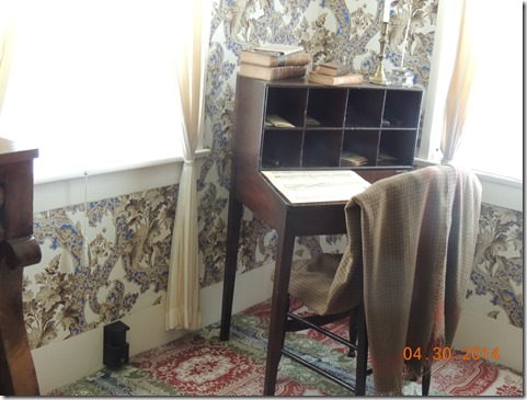 Lincoln's desk where he wrote speeches
