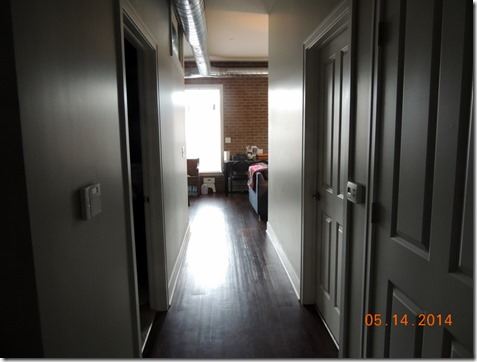 Hallway in apartment in South Bend IN