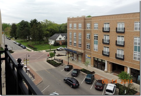 View to the south from the South Bend apt.