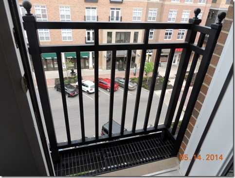 Balcony at South Bend apt.