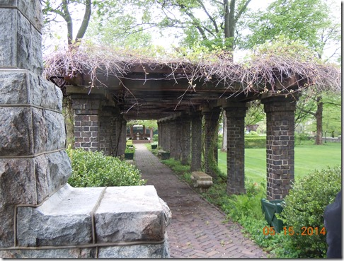 Walk to the gardens, used for weddings