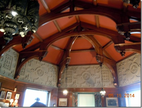 Ceiling in the piano room