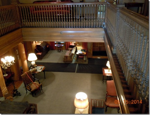 The entrance from upstairs