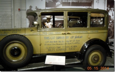 Famous Studebaker, driven across country in 77 hours, 40 minutes.