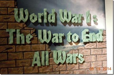 Temporary exhibit on WWI