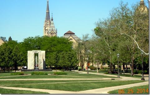 Smaller Quad w/ fountain Notre Dame