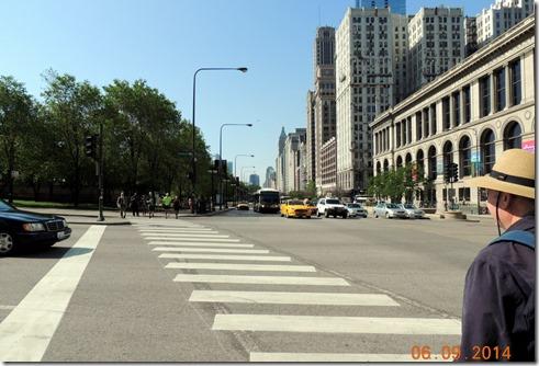 Heading towards Millennium Park, Chicago