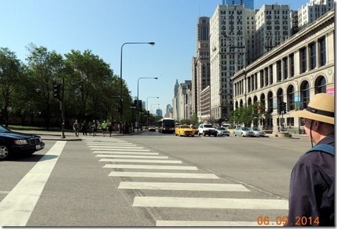 Heading towards Millennium Park, Chicago