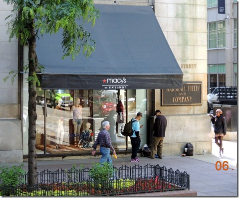Macy's is now in the Marsall Field store