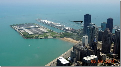 Navy Pier from the Water Tower Place