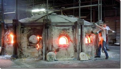 Kokomo Opalescent Glass 2500 degree furnace